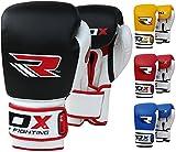 RDX Kuhfellleder Gel Sparring Boxhandschuhe Stanzen Handschuhbeutel Handschuhe Trainings Muay
