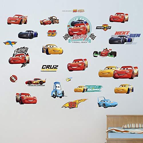 3d racing car fai da te cars lightning mcqueen photo decalcomanie da parete in pvc/adesivi da parete famiglia adesivi murali art home decor