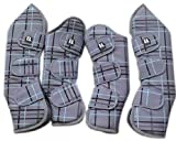Equiliero 4er Set Transportgamaschen Gr. Cob, VB, travel boots, extrem reissfest aus 1200D Ripstop Obermaterial und dicker Schaumstofffüllung, Fleeceinlay, wasserdicht & atmungsaktiv