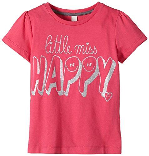 ESPRIT Mädchen T-Shirt aus Baumwolle, Gr. 116 (Herstellergröße: 116/122), Rosa (GLOWING PINK 679)