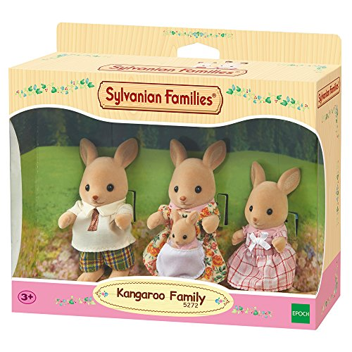 (Sylvanian Families 5272 5272-Känguru Familie Beutel, Minipuppen, mehrfarben)