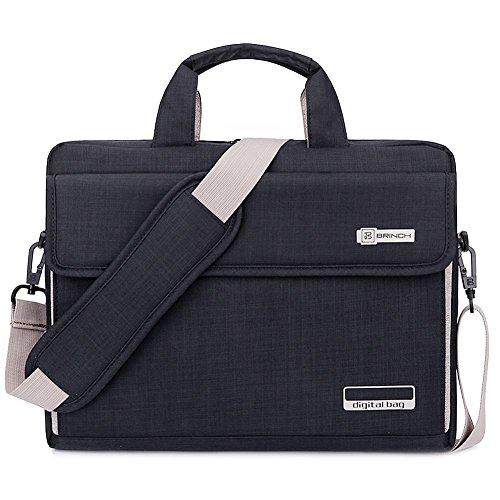 62a1b131cdbe70 Brinch Borsa per Laptop,Lussuosa Borsa a Tracolla Protettiva e Universale,  Unisex in Tessuto