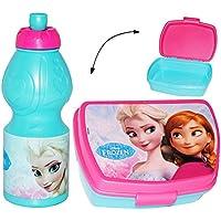 Preisvergleich für alles-meine.de GmbH 2 TLG. Set _ Lunchbox / Brotdose & Trinkflasche - Disney die Eiskönigin - ..