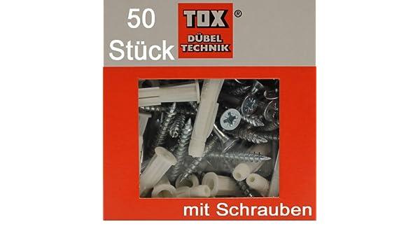 mit Schrauben 4,5x50 TRIKA 6//37 S 50 Stück TOX Allzweck Dübel TRIKA 6x37
