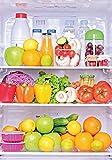 Wallario Wand-Bild 70 x 100 cm | Motiv: Offener gefüllter Kühlschrank | Direktdruck auf 5mm starke Hartschaumplatte | leichtes Material | günstig