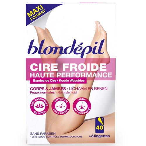 blondepil-haute-performance-40-bandes-cire-froide-pour-corps-jambes-6-lingettes-post-epilation