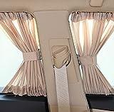 2 x 50s Auto Fenster Vorhang, Auto Seitenscheibe Vorhänge Sonnenschutzvorhang für UV-Schutz Hitzeschutz mit Einfaches Auf- und Zuziehen, 51 x 38cm geeinet für Autos SUV mit Höhe 38-42cm (Schwarzes Mesh)