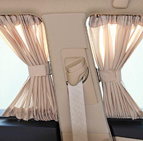 2 x 50s Auto Fenster Vorhang, Auto Seitenscheibe Vorhänge Sonnenschutzvorhang für UV-Schutz Hitzeschutz mit Einfaches Auf- und Zuziehen, 51 x 38cm geeinet für Autos SUV mit Höhe 38-42cm