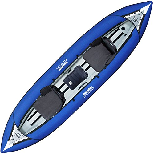 Aquaglide Chinook Tandem 3 Man Kayak TA300 GREEN + 2 FREE PADDLES + Pump