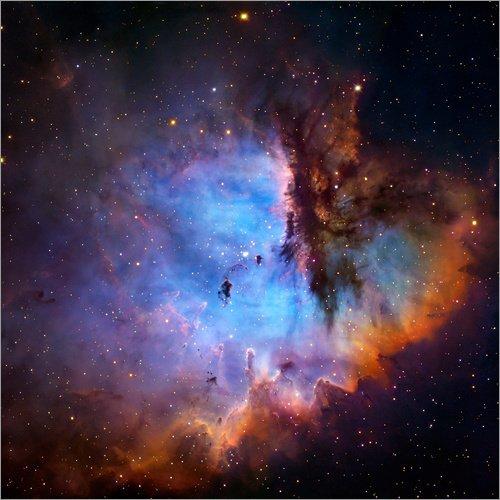 Leinwandbild 60 x 60 cm: Region einer Sternengeburt (NGC 281) von Robert Gendler / Science Photo Library - fertiges Wandbild, Bild auf Keilrahmen, Fertigbild auf echter Leinwand, Leinwanddruck