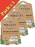 Parakito - MÜCKESNCHUTZ - NACHFÜLL-PELLETS Para'kito - Kit 3 x 2 NACHFÜLL-PELLETS
