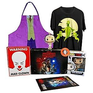 WOOTBOX Nightmare - Caja de Regalo - Simspon - Stranger Things - Joker - Placa - Tamaño 2XL Eleven, WTB-2017-010-FR-00H-02XL-000, Color Negro
