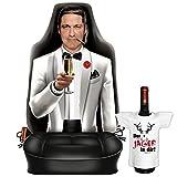 Themen-Sitzbezug/Autositz-Bezug cooles Motiv inkl. Mini-Shirt: Gentleman - geniales Geschenk