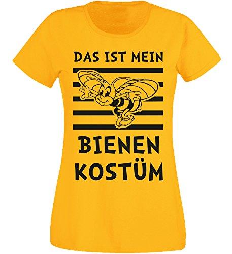 T-Shirt Damen - Bienen Kostüm 1 - Karneval Fasching (XL)