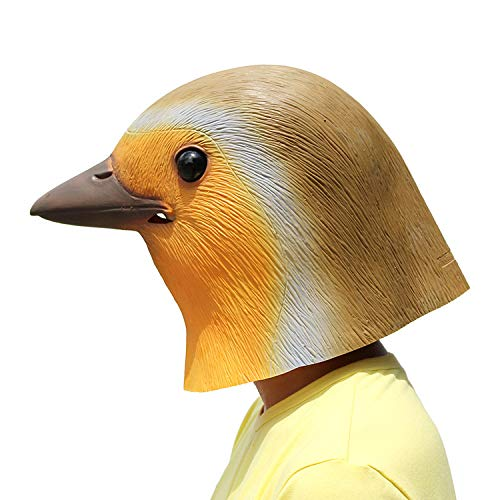 PartyCostume - Robin Vogel Maske - Halloween Latex Maske Tierische Vogel (Robin Halloween Maske)