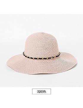 Sombrero De Paja Natural Al Aire Libre, Playa Sombrero, Sombrero De Sol, Sombrero De Sol, Tamaño Ajustable,Luz...