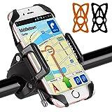 BIGO Fahrrad Handyhalterung für Smartphones, Anti-Shake und Universal Fahrradhalter für iPhone 7 6S/6S Plus 6/6Plus 5S/4S Galaxy S5/S4/S3, auch kompatibel mit Motorrädern und Scootern
