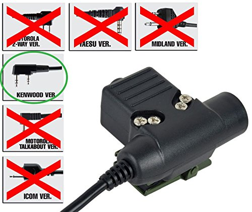 Preisvergleich Produktbild AIRSOFT PTT RADIO BUTTON ZTactical SORDINS U94 KENWOOD 2 WAY 2 PIN