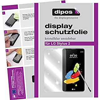 dipos LG Stylus 2 Schutzfolie (6 Stück) - kristallklare Premium Folie Crystalclear