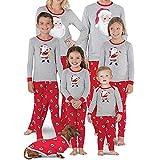 Homebaby Famiglia Pigiama di Natale T-Shirt da Bambino per Bebè T-Shirt da Bambino, Pigiama da Famiglia, Pigiama da Notte