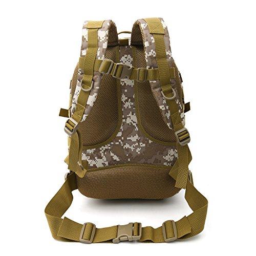 YYY-Zaino alpinismo multifunzionale borsa esterna mimetica zaino turismo sport impermeabile 32 * 17 * 44 cm , 1 2