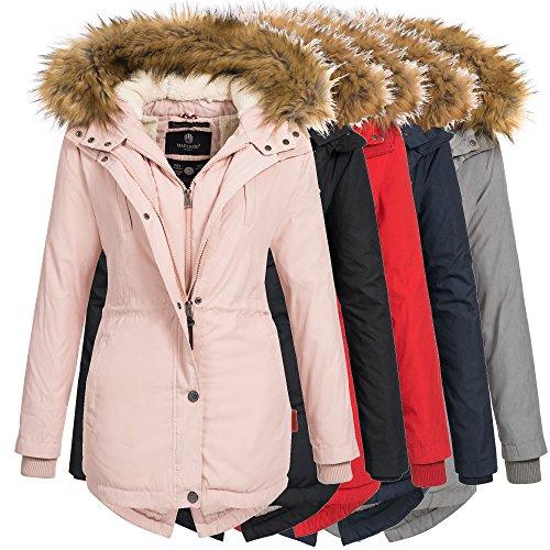 Marikoo Damen Winter Jacke Mantel Winterjacke Parka Wintermantel warm gef