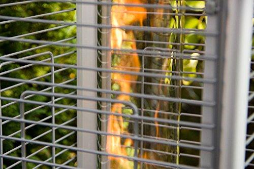 Beach & Pool Terrassenheizer VIDRO Heizpilz mit Glasröhre und außergewöhnlichem Design, CE-zertifizierter Gasheizer, Premium Qualität, Heizstrahler Gasheizstrahler Gas (anthrazit) - 8