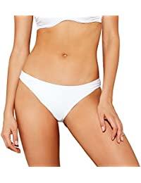 22ce228e01 Debenhams Beach Collection White Ruched Bikini Bottoms