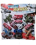 #9: Cluesteps Push & Pull Along Model Toys 4 Aeroplanes, 4 Fire Brigade, 4 Cars