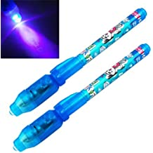 BeautyLife–2x UV Invisible Seguridad rotulador permanente Pen & Construido en Ultra Violeta luz LED