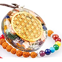 QuanThor 1.6 inch Flower Of Life Crystal Necklace | EMF protection (BONUS EMF Bracelet 7 chakras) | Reiki Pendants... preisvergleich bei billige-tabletten.eu