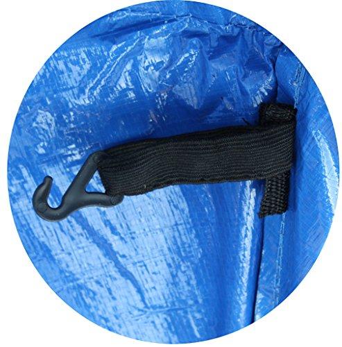 Premium Federabdeckung 396 – 400 cm 13 FT für Trampolin Randabdeckung Randschutz Abdeckung PVC zweiseitig – UV beständig blau - 5