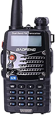Baofeng BF-UV-5RA+ Walkie Talkie Negro