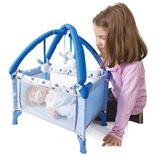 Giochi preziosi cicciobello travel bed 794, multicolore, 8056379065685