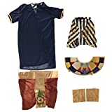 MagiDeal Ägyptische Kinderkostüm Kostüm Ägypten Königin Kleid Kopfschmuck Ägypterin Pharaokostüm Pharao Faschingskostüm Kinder Kostüme Fasching - XL