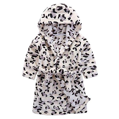 Kinder Bademantel mit Kapuze Nachthemd, Jungen Mädchen Niedlich -