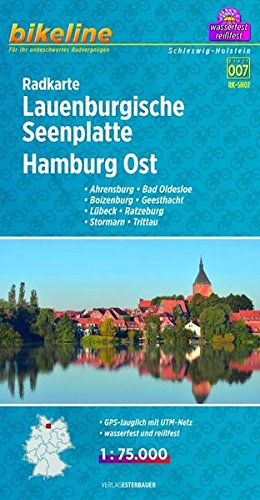 Lauenburgische Seenplatte Hamburg East Cycle Map 2013