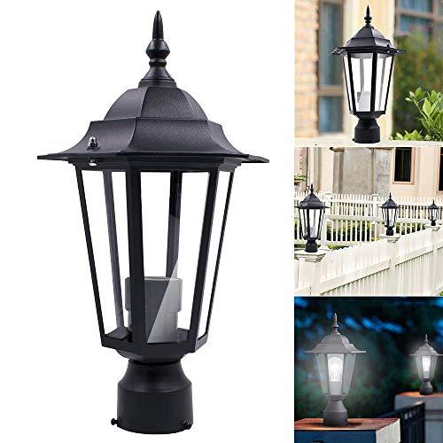 Post-leuchte (MNmkjgfgj Post Pole Light Outdoor Garten Terrasse Auffahrt Hof Laterne Lampe Leuchte Schwarz (Lichterkette/Light/Tischlampe/Nachttischlampe/Nachtlicht) (Color : -, Size : -))