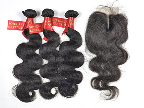 Soieeast Extension® 3 Boucles Body Wave Tissage Bresilien élevé Grade 24\\
