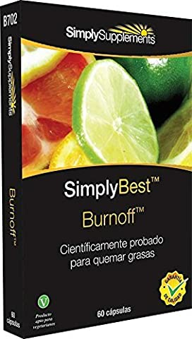 Burnoff | Scientifically Proven Fat Burner & 100% Natural Citrus Fruit Extract| 60 Capsules | Blister Pack | 100% money back guarantee | Manufactured in the