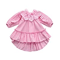 goodjinHH Baby Girl Skirt Set Toddler Kids Baby Girl Off Shoulder Lace Princess Party Dress Outfit Clothes