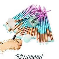 TAOtTAO 21PCS Make Up Foundation Eyebrow Eyeliner Blush Cosmetic Concealer Brushes (A)