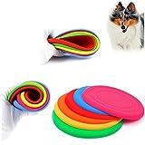 Efbock Silikon-Haustier-Hund-Fliegen-Scheiben-Zahn-beständiges Trainings-Fetch-Spiel-Spiel-Frisbee 2pcs