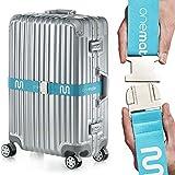 OneMate Koffergurt-Set mit Metallschnalle – Robuster Gepäckgurt für sichere Reisen | GRATIS Zufriedenheitsgarantie (Hellblau 1er)