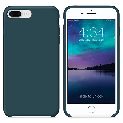 Surphy cover iphone 8 plus, cover iphone 7 plus, custodia iphone 8 plus 7 plus silicone cover antiurto con morbida microfibra fodera, protettiva cover case per apple iphone 8/7 plus 5.5 (blu cosmo)