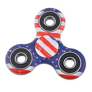 Nibesser Spinner Jouet Décomprimé pour Enfant ou Adulte Roulement Haute Vitesse Tourne Multicolore Camouflage (style 3)