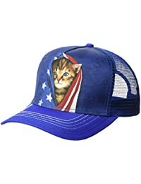 The Mountain Men's Patriotic Assorted Animals Flag Trucker Hat