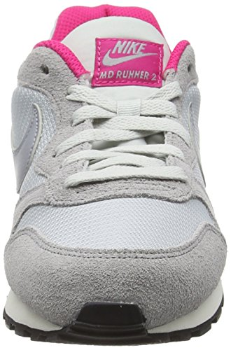 Nike 749869, Chaussures Femme Pure Platinum/Wolf Grey-Vivid Pink-Sail