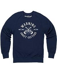 May Start Talking About Guitars Sweatshirt mit Rundhals, Herren