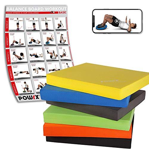 Balance Pad / Tapis dentraînement / Coussin déquilibre - Idéal pour le yoga, le pilates, la proprioception et la rééducation / Coloris différents (Jaune)